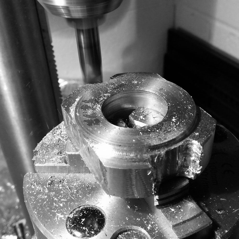 Rough milling of first lug area done.